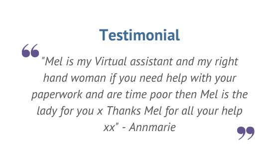 Testimonial, Virtual Assistant, Social Media help, Website Maintenance, Real Estate Administration, Marketing Administration, Marketing Assistance, Admin support, Administration Assistance, Perth