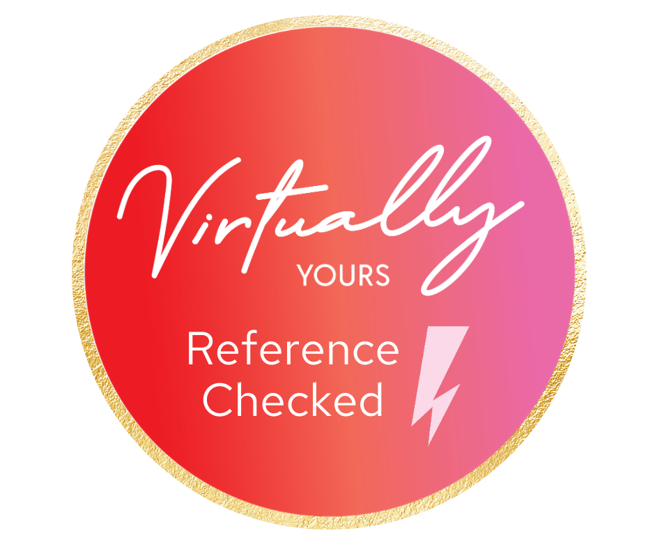 Virtually Yours, Reference checked virtual assistant, reference checked va, VYVA